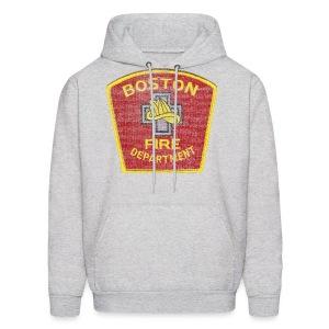 Boston Fire Department Patch Style Men's Hooded Sweatshirt - Men's Hoodie