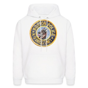 Boston Police K-9 Men's Hooded Sweatshirt - Men's Hoodie