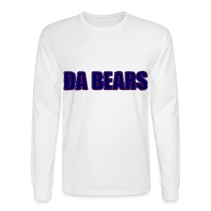 Da Bears Stitched Style Men's Long Sleeve Tee - Men's Long Sleeve T-Shirt