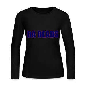 Da Bears Stitched Style Women's Long Sleeve Jersey Tee - Women's Long Sleeve Jersey T-Shirt