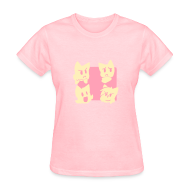 Women's T-Shirts ~ Women's T-Shirt ~ Girls' Four Cats T-Shirt
