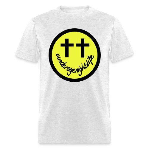 UNDERAGE NIGHTLIFE SMILEY SHIRT - Men's T-Shirt