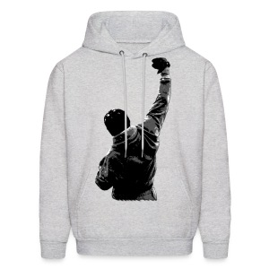 Rocky Balboa Style - No Pain Grey Hooded Sweatshirt - Men's Hoodie