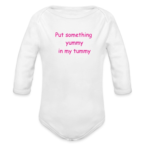 Yummy Tummy Baby one piece - Organic Long Sleeve Baby Bodysuit