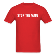 T-Shirts ~ Men's T-Shirt ~ Stop The Wave Mens Standard Shirt