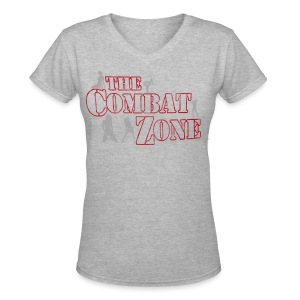 The Combat Zone Women's V-Neck T-Shirt - Women's V-Neck T-Shirt