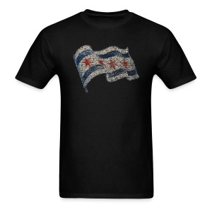 Chicago Flag Men's Standard Weight T-Shirt - Men's T-Shirt