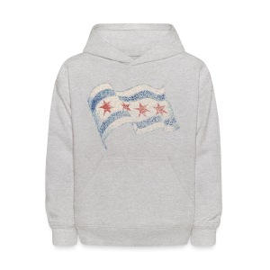 Chicago Flag Kid's Hooded Sweatshirt - Kids' Hoodie