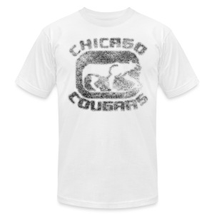 Cougars Hockey Men's American Apparel Tee - Men's T-Shirt by American Apparel