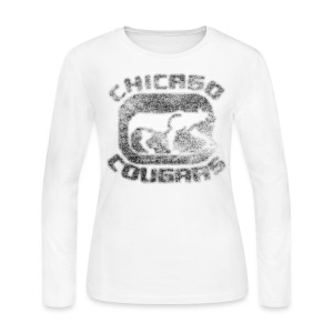 Cougars Hockey Women's Long Sleeve Jersey Tee - Women's Long Sleeve Jersey T-Shirt