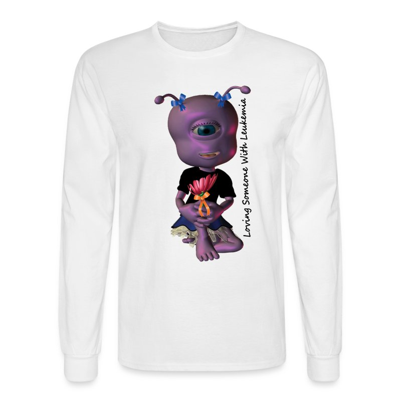 Leukemia - Save a Life Alien - Men's Long Sleeve T-Shirt