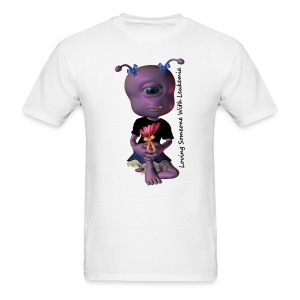 Leukemia - Save a Life Alien - Men's T-Shirt