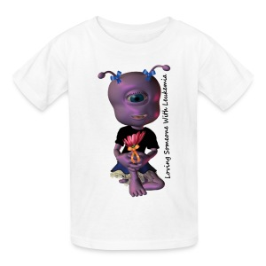 Leukemia - Save a Life Alien - Kids' T-Shirt