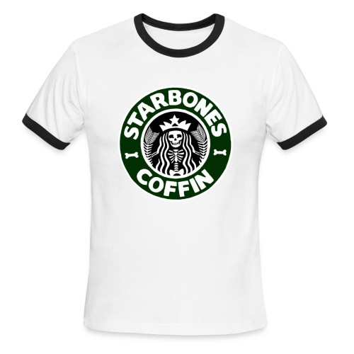 Starbones Coffin - Men's Ringer T-Shirt