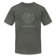 T-Shirts ~ Men's T-Shirt by American Apparel ~ Tree of Life: Grey on Grey special edition!