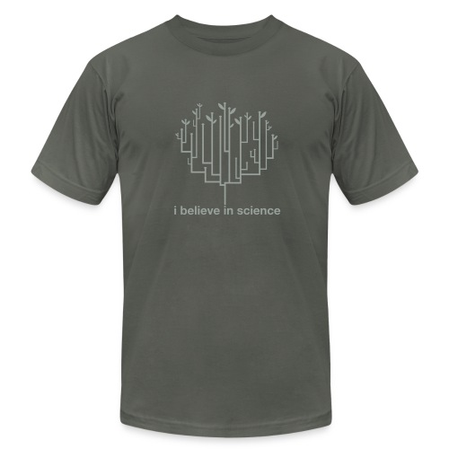 Tree of Life: Grey on Grey special edition! - Men's T-Shirt by American Apparel