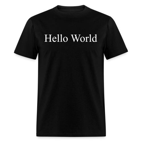 Hello World - Fortran66 (on back) - Men's T-Shirt