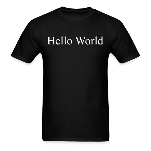 Hello World - Fortran66 (on back) - Men's T-Shirt