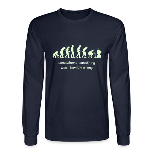 Wrong evolution - Men's Long Sleeve T-Shirt
