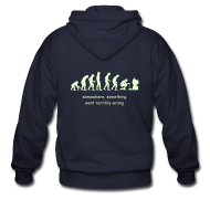 Hoodies ~ Men's Zip Hoodie ~ Wrong evolution