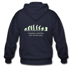 Wrong evolution - Men's Zip Hoodie