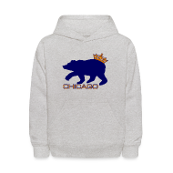 Sweatshirts ~ Kids' Hoodie ~ Ass Crown Kid's Hooded Sweatshirt