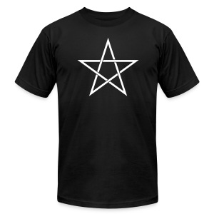 Pentagram Star - Men's T-Shirt by American Apparel