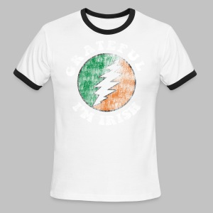 Grateful Irish Men's Lightweight Ringer Tee - Men's Ringer T-Shirt