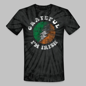 Grateful Irish Men's Tie Dye T-Shirt - Unisex Tie Dye T-Shirt