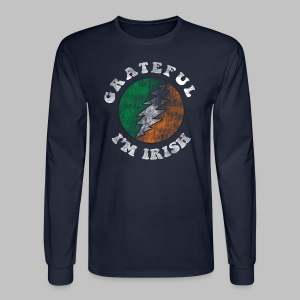 Grateful Irish Men's Long Sleeve Tee - Men's Long Sleeve T-Shirt
