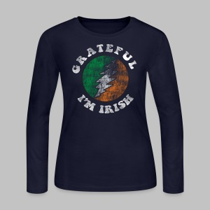 Grateful Irish Women's Long Sleeve Jersey Tee - Women's Long Sleeve Jersey T-Shirt