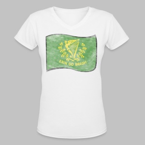 Erin Go Bragh Distressed Women's V-Neck T-Shirt - Women's V-Neck T-Shirt