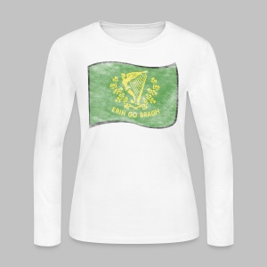 Erin Go Bragh Distressed Women's Long Sleeve Jersey Tee - Women's Long Sleeve Jersey T-Shirt