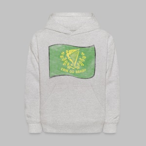Erin Go Bragh Distressed Kid's Hooded Sweatshirt - Kids' Hoodie