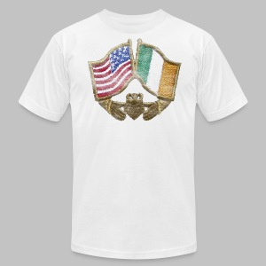 USA Ireland Friendship Men's American Apparel Tee - Men's T-Shirt by American Apparel