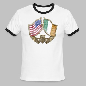USA Ireland Friendship Men's Lightweight Ringer Tee - Men's Ringer T-Shirt