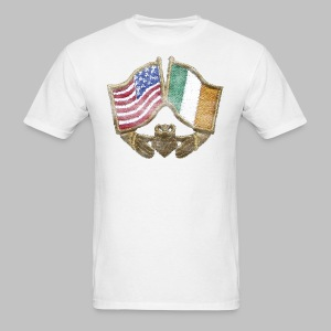 USA Ireland Friendship Men's Standard Weight T-Shirt - Men's T-Shirt