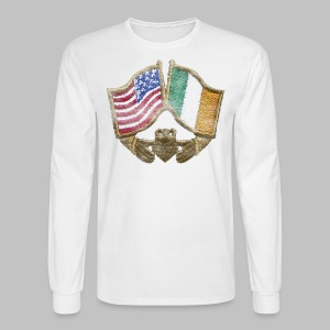USA Ireland Friendship Men's Long Sleeve Tee - Men's Long Sleeve T-Shirt