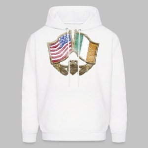 USA Ireland Friendship Men's Hooded Sweatshirt - Men's Hoodie