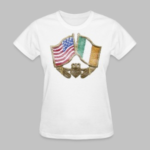 USA Ireland Friendship Women's Standard Weight T-Shirt - Women's T-Shirt