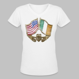 USA Ireland Friendship Women's V-Neck T-Shirt - Women's V-Neck T-Shirt