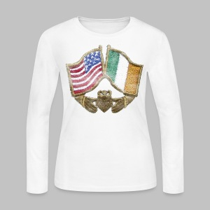 USA Ireland Friendship Women's Long Sleeve Jersey Tee - Women's Long Sleeve Jersey T-Shirt