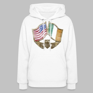 USA Ireland Friendship Women's Hooded Sweatshirt - Women's Hoodie