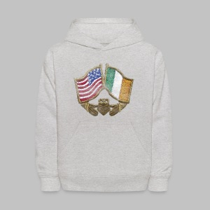 USA Ireland Friendship Kid's Hooded Sweatshirt - Kids' Hoodie