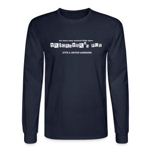 Trickster's Men's Long Sleeve T white print - Men's Long Sleeve T-Shirt