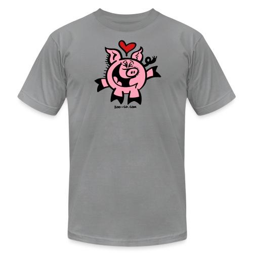 Pig Falling Head over Heels in Love - Men's Jersey T-Shirt
