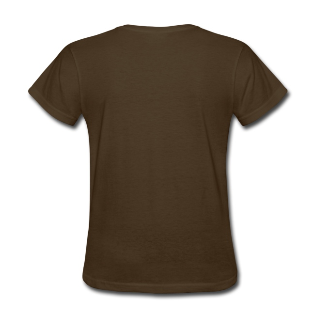 Chocoholic, Womens Chocolate Lover Heart T-Shirt, Brown, Gold, Red