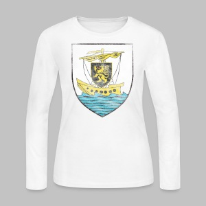 Galway Crest Women's Long Sleeve Jersey Tee - Women's Long Sleeve Jersey T-Shirt