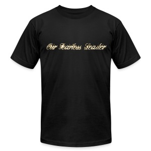 Our Fearless Leader Logo Gold Front And Back - Men's T-Shirt by American Apparel