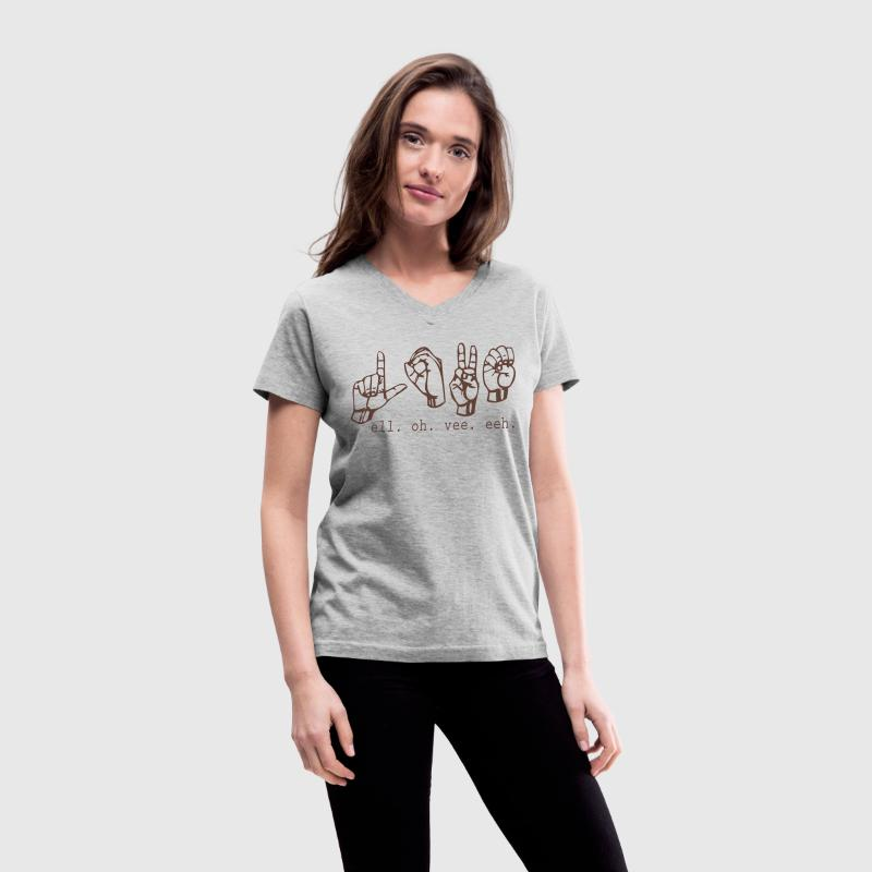 L. O. V. E. - Women's V-Neck T-Shirt